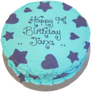 Blue Frosting Birthday Cake (BC 14)