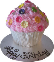 Giant Cupcake Birthday Cake (BC12)