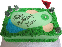 Golf Green Birthday Cake (BC13)