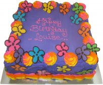 Hippy Flower Birthday Cake (BC11)