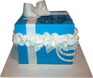Tiffany Box Birthday Cake (BC 23)