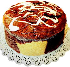 Choc Vanilla Marbled Butter Cake